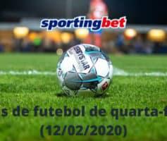 Jogos de futebol de quarta-feira no Sportingbet (12/02/2020)