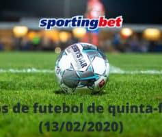 Jogos de futebol de quinta-feira no Sportingbet (13/02/2020)